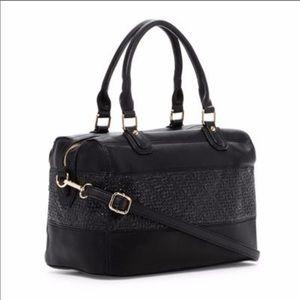 Handbags - 💕 Two-Tone Faux Leather Satchel 💕